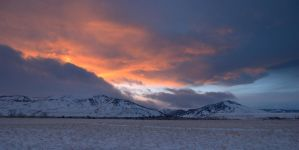 A Bald and Windy Sunset by wyorev