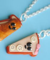 Toast Necklaces by ClayConnections