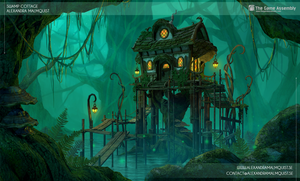 Swamp Cottage 3D by Zanariya