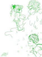 Wreck-it-Ralph and Jack Frost doodles by Mad-Hattress-Ari