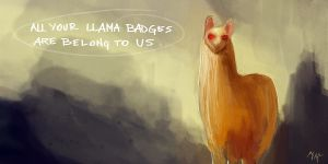 GIVE ME LLAMA BADGES by MacRebisz