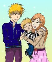 IchiHime and baby by Skaki-chan