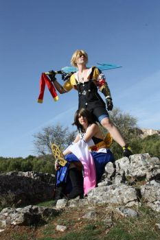 yuna and tidus ff x by kami-cosplay