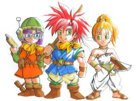 Chrono Trigger: Chibis by Risachantag