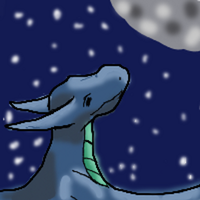 Dragon in the night sky by ShattenWolf
