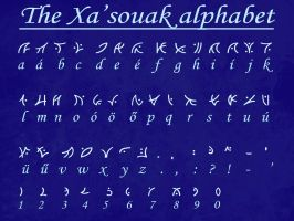 The Xa'souak alphabet by Fodormant