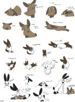 Page full o' Bunnies by Fyuvix