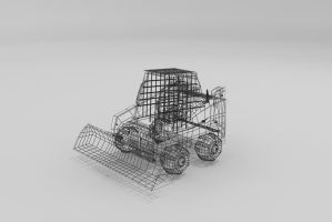 Bob Cat Wire Frame by Xpunk75