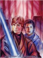 Luke and Leia by DavidRabbitte