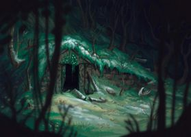 Overgrown Tomb by dragonictoni