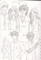 Sketch Dump Harry Potter by TheArtgrrl