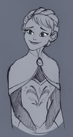 Elsa sketch by LamourDanimer