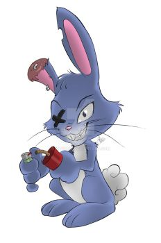 Evil Cartoon Bunny^_^ (For fun) by Kitsunie
