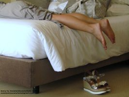 Before receiving some moisturizing load.. by JennyFeet84