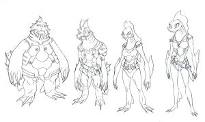 Fishmen Crew concepts by DanNortonArt