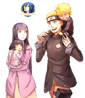 NaruHina Family by ZetsubouSpook