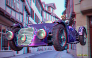 Anaglyph Car by passionofagoddess