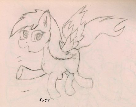 Flying Derpy Sketch by Otonashikun