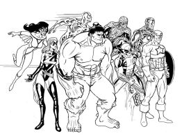 Avengers by Ericdimension
