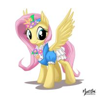Fluttershy in a dress by mysticalpha