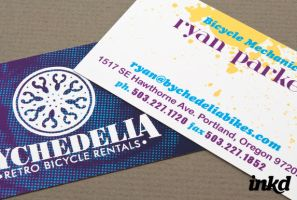 Retro Bike Rental BusinessCard by inkddesign