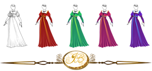 Outfit Design : Historical Beauty colored version by JessyB-Design