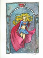 Supergirl Art Noveau by artiste-reveur