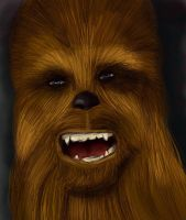 Chewbacca color by tite-pao