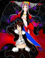 Squall and Ultimecia by Hideyo