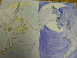 Luna and Celestia by ArtisticCreation