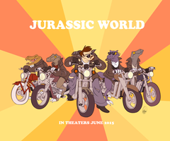 Retro Raptor Squad by SharpDressedReptile