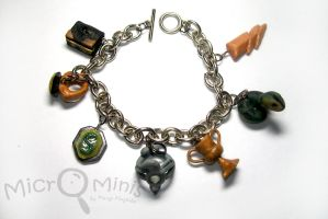 Harry Potter Horcruxes charm bracelet by margemagtoto