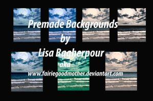 Ocean Premade Background Stock by FairieGoodMother