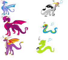 Dragon And Snake Adoptables 1 by Xx-Cookie-Lover-xX