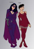 Birds of Prey Redesign: Huntress and Gypsy by Heroid