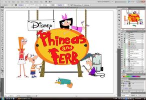Phineas and Ferb -WIP- 2 by Colorousme