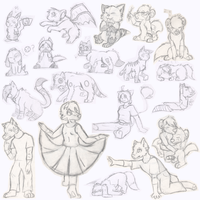 For friends Sketch Dump by Achiga
