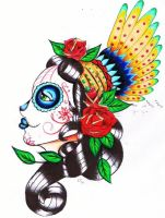 Day of the dead gypsy by StarvingArtist513
