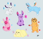 MLP as BUNNIES!! by TheUniquePonies
