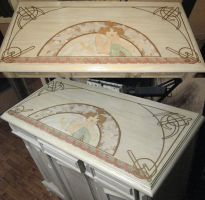 Antique sideboard top by M-i-n-e-r-v-a