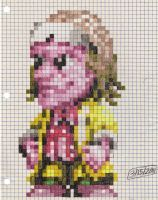 Doc Brown graph paper sprite by dragontamer272