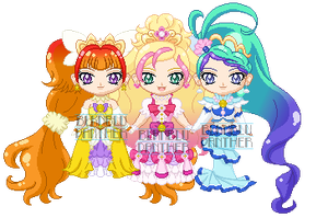 ChibiP: Go! Princess Precure Princess Forms by blknblupanther