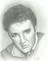 Elvis Presley by CarinKaySpence