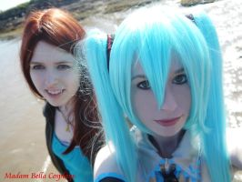 Miku and Amy Pond by MasterCyclonis1