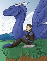 Brom and his Dragon by Jacksparrowsbabe