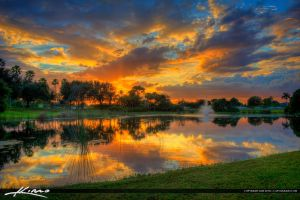 Palm-Beach-Gardens-Sunset-at-Lake-HDR-Photogra by CaptainKimo