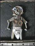 Trash Robot Maid made out of junk metal by MushroomBrain