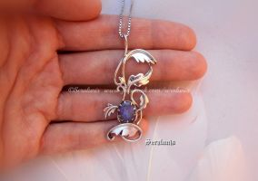 'Spirit of Yggdrasil', sterling silver pendant by seralune