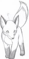Chibi Fox - no color... yet by Lyystra