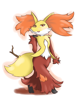Delphox by unknownlifeform